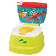 Make potty training fun and enticing for your little one with the Kolcraft Elmo Adventure Potty Chair. This aquarium-themed chair is whimsical and inviting, and looks like a real toilet. It even has a flush handle so kids can go through all the motions. A drop-in pot and removable adapter seat that transitions to the real toilet will make the potty-training process easy and convenient.