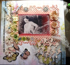 ~Scraps of Elegance~ Bling and Butterfly Challenge - Scrapbook.com    My entry .. that won. Whewhew