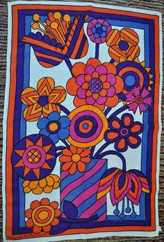 The World's Best Photos of pienkowski Motif Vintage, Vintage Prints, Vintage Fabrics, 70s Decor, Hanging Fabric, Retro Fabric, Retro Pattern, Art Model, Retro Art