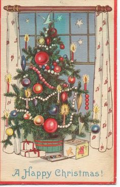 Christmas Tree Vintage Cards for Xmas and Holidays,  Vintage Tree -  Christmas Tree - Vintages Cards -  tree, vintage, xmas, christmas, holidays, free, clipart,