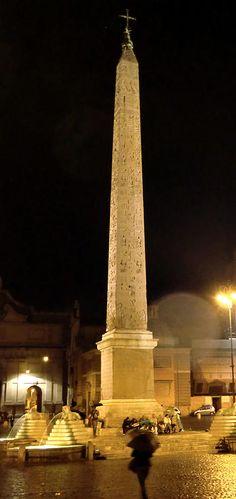 The Cleopatra Needle In Rome, Italy