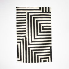 Kate Spade Saturday Small Scale Maze Dhurrie Rug - Iron | West Elm