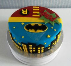 My version of the Batman and Robin cake.....very pleased with the result.