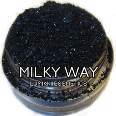 Milky Way Galactic Collection Galaxy Green Deep Black Glitter Eyeshadow Mica Pigment 5 Grams Lumikki Cosmetics