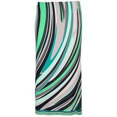 EMILIO PUCCI VINTAGE printed skirt ($295) ❤ liked on Polyvore