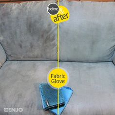 """ENJO Textile (aka """"fabric"""" for non-Americans! I've really cleaned my couches with this, and, mind blown! Chemical Free Cleaning, Fibres, Natural Cleaning Products, Couches, Mind Blown, Glove, Cleaning Hacks, Laundry, Range"""