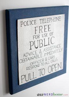 Geek Office! DIY Doctor Who TARDIS Cork Board