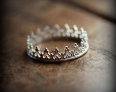 Plata esterlina 925 corona Tiara de por VictorianArtJewelers