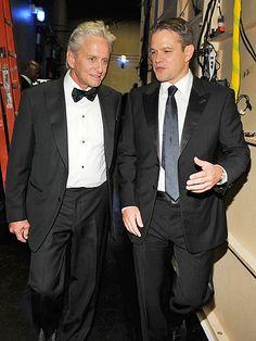 POWER WALK photo   Matt Damon, Michael Douglas