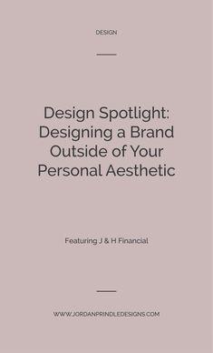 Design Spotlight: J & H Financial — Jordan Prindle Designs Successful Business Tips, Creative Business, Branding Design, Logo Design, Graphic Design, Corporate Design, Social Media Graphics, Helping People, Spotlight