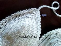 bikini crochet, Crochet, Ropa Bikinis Crochet, Crochet Hats, Top, Fashion, Women, Knitting Hats, Moda, Fashion Styles, Fashion Illustrations