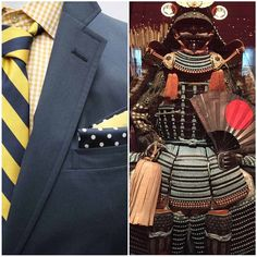 On the left, modern day armor. On right, 1600's Samurai armor.