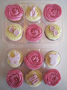 Girl Baby Shower Cupcakes www.chic-dreams.co.uk