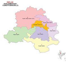 Delhi Lok Sabha 2014 Election Constituency Map
