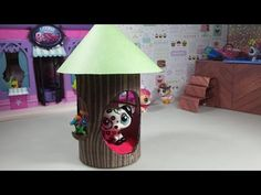 Easy DIY Custom LPS Doll Accessories: How to Make a Tiny Tree House - YouTube