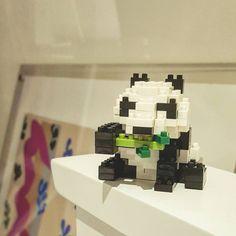 «My #nanoblock #panda :) # # tiny #lego #building #blocks»