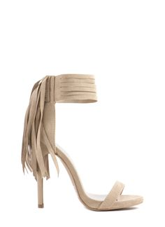 Strip Search Strappy Fringed Heels