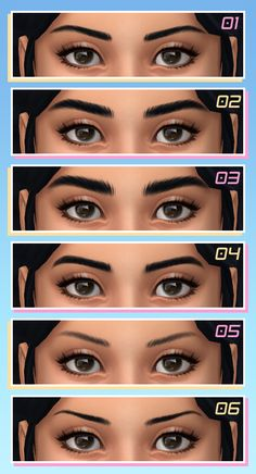 Maxis Match CC World - viola Maxis, Los Sims 4 Mods, Sims 4 Game Mods, Die Sims, Sims Cc, Kendall Jenner Eyebrows, Straight Eyebrows, Korean Eyebrows Shaping, Short Eyebrows