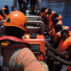 NGO Doctors Without Borders rescue migrants from the Mediterranean Ocean