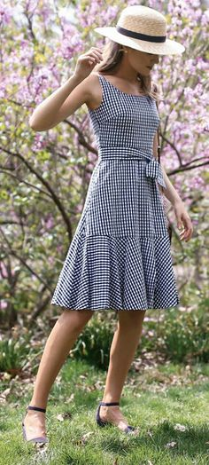 Women's Fashion Dresses, Dress Outfits, Casual Dresses, Flapper, Gingham Dress, Spring Dresses, Dress Summer, Summer Outfits, Pretty Dresses