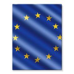 Waving EU European Flag Stretched Canvas