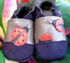 chaussons cuir souple pour bébé et enfant, modèle cococinelle bringel