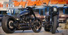 Die customized Harley-Davidson Softail Breakout 2017 mit Thunderbike Fender-Kit, Tank, Air-Ride und sorgt für Aufsehen. Jetzt alle Teile online bestellen im Thunderbike Shop.