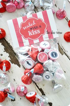 homemade valentine saled with a kiss valentine's day gift