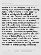 Good Fucking Design Advice: WhitePoster