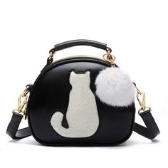 Cute Fuzzy Cat Handbag with Hairball Pendant - now on sale at 30% off while supplies last! https://crazycatswag.com/cute-cat-handbag-hairball-pendant/?utm_content=buffer9afed&utm_medium=social&utm_source=pinterest.com&utm_campaign=buffer #catlover #handbags #catpurse #ilovecats #crazycatlover
