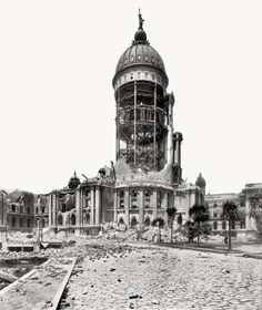 City Hall, 1906. San Francisco earthquake.