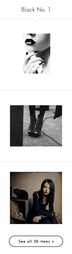 """""""Black No. 1"""" by towriteloveonherarms16 ❤ liked on Polyvore featuring beauty products, makeup, lip makeup, backgrounds, faces, lips, models, pictures, b&w and black and white"""