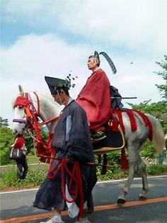 葵祭り Aoi-Matsuri (Aoi-festival) in Kyoto Japan. Heian era costume. The Aoi Festival came to be held now for approximately 1,400 years.