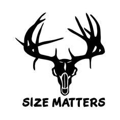 Size Matters Deer Buck Antlers Hunting Vinyl Decal Sticker  BallzBeatz . com
