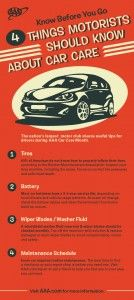 4 Things Motorists Should Know About Car Care #Car Care Month - AAA Infographic  http://exchange.aaa.com