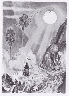 """This house is the most beautiful one we could ever have."" (""The Moomins and the Great Flood"" by Tove Jansson, 1945)"
