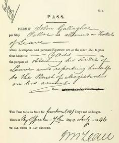 Convict Pass 1846