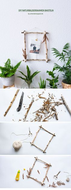 Handicrafts with natural materials: decoration idea from forest finds Home Beach, Summer Wedding Decorations, Diy Simple, Forest Decor, Easy Diy Gifts, Boho Diy, Nature Decor, Faux Flowers, Natural Materials