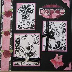 Ballet Dance Scrapbooking Page