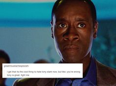 Text messages from the Avengers: Rhodey