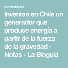 Inventan en Chile un generador que produce energía a partir de la fuerza de la gravedad  - Notas - La Bioguía