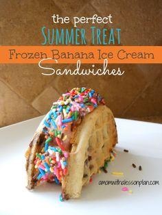Frozen Banana Ice Cream Sandwiches
