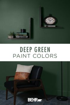 If there's one thing that we can't get enough of, it's a dark and dramatic wall color. That's why we're loving the botanical style of these deep green paint colors. Click below to get inspired for your next DIY home makeover project.