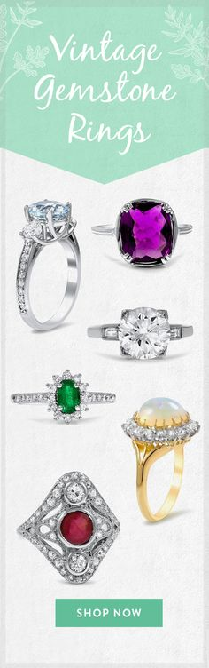 Vibrant and unique gemstones give these rings an eye-catching allure.