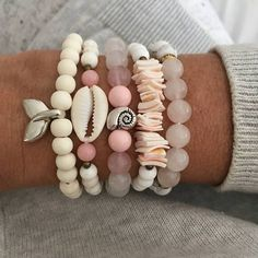 Browse unique items from beachcombershop on Etsy, a global marketplace of handmade, vintage and creative goods. Seashell Jewelry, Cute Jewelry, Boho Jewelry, Beaded Jewelry, Jewelery, Jewelry Accessories, Handmade Jewelry, Bohemian Bracelets, Beach Accessories