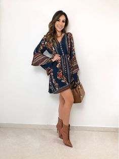 Finice Business Women Apparel Elegant - Now Outfits Casual Dresses, Short Dresses, Casual Outfits, Fashion Dresses, Cute Outfits, Hippie Style, Boho Style, Vestidos Country, Look Boho Chic