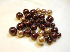 #Painted #Glass #Pearls #Cappuccino and by KellsBellsandBeads on #Etsy, $2.50 #jenbnr #rt #supplies #jewelry