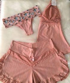 Sleepwear Women, Foto E Video, Romwe, Boho Shorts, Sexy Lingerie, Bikinis, Swimwear, Underwear, Two Piece Skirt Set