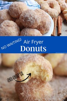 Air Fryer Cake Recipes, Air Fryer Oven Recipes, Air Frier Recipes, Air Fryer Doughnut Recipe, Easy Donut Recipe, Donut Recipes, Air Fry Donuts, Divas Can Cook, Air Fried Food