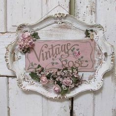 Ornate platter painted sign wall hanging ' by AnitaSperoDesign